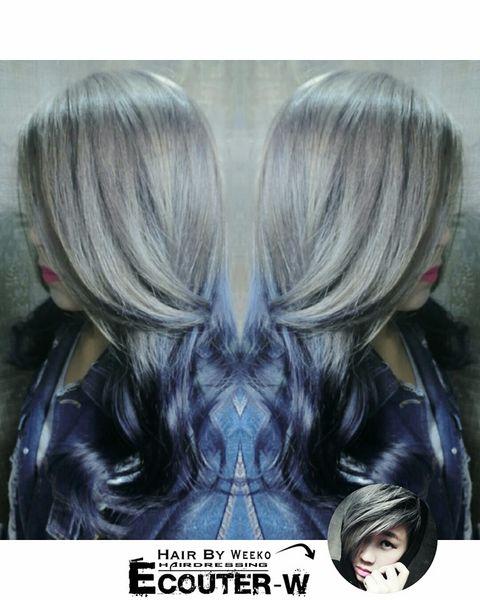 銀灰MIX藍紫