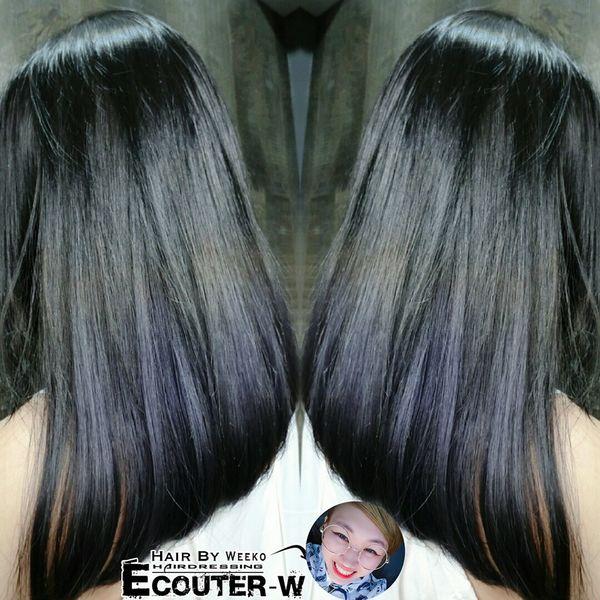 利用原生髮MIX灰紫色