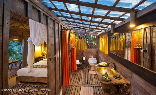 睡在魚池之上,峇厘島生態度假旅館